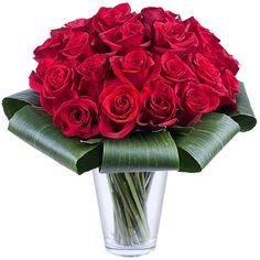 Roter Zauber: 25 rote Rosen