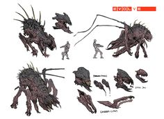 Before she was known as Gorgon she was known as Whip-Spider YEEEEEAAAAAH! These are the first pass concepts and the final pass resulting in the beast today :)  Evolve is © 2k Games  https://www.youtube.com/watch?v=LJgkNMfai6o&index=2&list=FLgvpvdO9JC6WOc4AW86LGLg