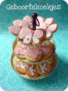 pink babyshower cookies