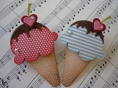 Sweet Ice Cream Cone with Chocolate Syrup Embellishments by vsroses.com, via Flickr