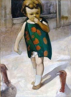 Girl with turkeys Artist: Theophrastos Triantafyllidis Style: Expressionism Genre: genre painting Greek Paintings, Post Impressionism, Greek Art, 10 Picture, Art Database, Conceptual Art, Figurative Art, Contemporary Artists, Painting & Drawing