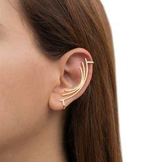 No pierced ear cuffs, no piercing ear cuffs, gold ear cuff earrings, curved bar ear plugs, gold ear Ear Jewelry, Rose Gold Jewelry, Jewellery, Fine Jewelry, Ear Cuffs, Silver Ear Cuff, Cuff Earrings, Silver Earrings, Ear Crawler Earrings