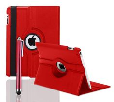Generic Folio Leather Case for iPad Air – Red Ipad 4, Ipad Case, Apple Ipad, Screen Protector, Leather Case, Wallet, Amazon, Cover, Cases