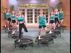 Rebounder exercise routine ~ great movement for lymph glands