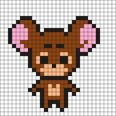 Jerry Mouse Perler Bead Pattern - 26/10/2016