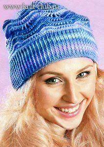 Вязание шапки крючком из мягкого хлопка