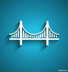 San Francisco bridge vector logo design - Buy this stock vector and explore similar vectors at Adobe Stock Free Vector Files, Vector Free, San Francisco Bridge, Architecture Blueprints, Photo Clipart, People Logo, Vector Logo Design, Sports Graphics, Vector Graphics