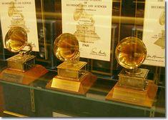 Elvis Presley's three Grammy Awards on display at Graceland.