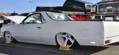 Custom All White El Camino - Big Rims - Custom Wheels