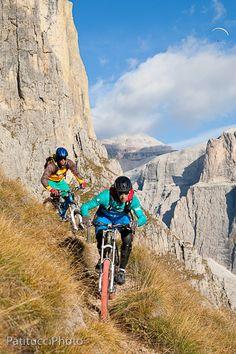 Biking on the mountains.