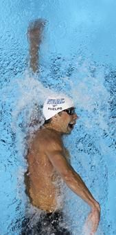 Michael Phelps was first in the 200 freestyle.