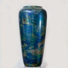 Zsolnay kék padlóváza
