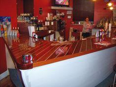 Bar shaped like a boat hull