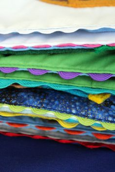 Quiet Book edging and tips on sewing the cover                                                                                                                                                      More