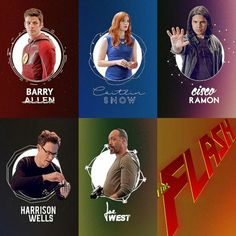 The Flash Team ~ Barry Allen, Caitlin Snow, Cisco Ramon, Harrison Wells and Joe West