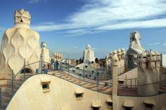 #Barcellona - I volteggi del tetto progettato da Gaudì