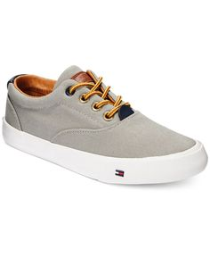 Tommy Hilfiger Boys' or Little Boys' Dennis Canvas Sneakers