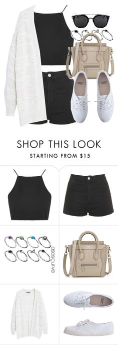 """Style #10247"" by vany-alvarado ❤ liked on Polyvore featuring Topshop, ASOS Curve, Violeta by Mango and American Apparel"