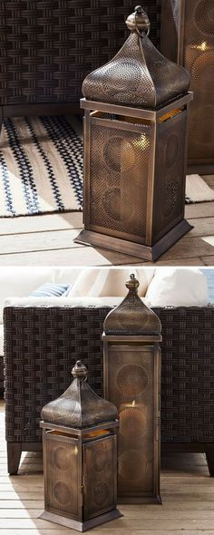 These moroccan lanterns are a perfect addition to any room. #home #decor #ad #moroccan #room