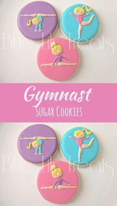 Gymnast Cookies- Gymnastic- Tumbling- Customization Available, 1 dozen #affiliate