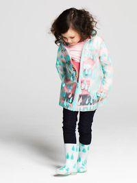 Imperméable et bottes de pluie [Billieblush]. #lillibulle #billieblush #pluie #kidstyle