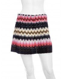 Gotta Love Missoni!!  -- A-Line Multicolored Mini Skirt
