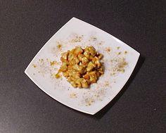 Bocconcini di pollo al curry e peperoni