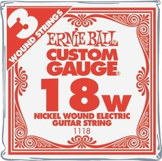 Ernie Ball Nickel Wound Single Guitar Strings 3-Pack .018 3-Pack by Ernie Ball. $2.99. 3 pack of fresh Ernie Ball Nickel Wound electric guitar strings in your favorite size..