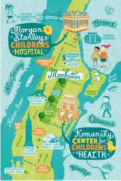 New York illustrated map