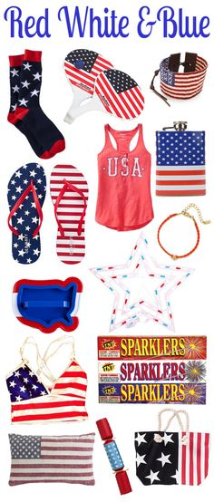 Red White and Blue for the 4th of July!