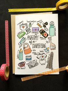 Anatomy of a Diaper Bag Card