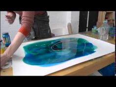 Trailer showing a sampling from artist Nancy Reyner's DVD, demonstrating innovative contemporary painting effects obtained through pouring acrylic mediums a...