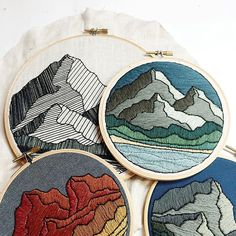 Making mountains and you can too with my #skbdiy Pattern Program available through Etsy. Each monthly design is available individually for as a part of a multi-month subscription. All downloads come with the design for transfer, material and supply suggestions, tips to get you started, an illustrated stitch glossary, step by step instructions complete with photo details. These mountain peaks will only be available through the end of the month, so don't wait too long to snag yours!