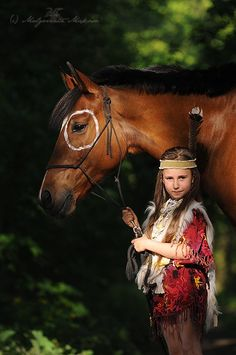 """Indian girl and pony...""""I pretended to be a little Indian girl riding bareback on my horse in the pasture on the 'big' mountains..."""""""