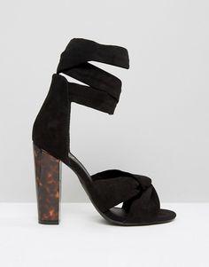 Missguided   Missguided Twist Strap Block Heel Sandal #Vegan