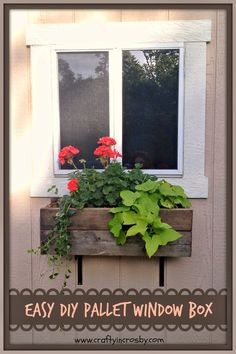 diy, Tuffshed, garden shed, window box, pallet diy