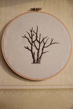 tree embroidery #woodland