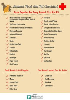 Animal First Aid Kit Checklist