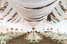 Seriously elegant wedding reception /// Photo by Paper Antler Photography via Project Wedding