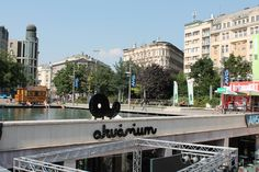 Akvarium Club on elisabeth Square. a busy nightlife spot in Budapest
