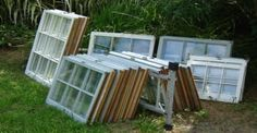 He Found A Pile Of Old Windows At The Dump. What He Did With Them? INCREDIBLE!