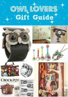 Owl Lovers Gift Guide  #owls #owllove #giftguides #giftideas