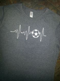 Soccer T-shirt Embroidery Soccer Heart Monitor by M5XDesigns4u More