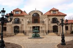 Lavish & opulent stone mansion in Franklin Lakes, New Jersey