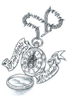 Pocket Watch Tattoo | pocket watch