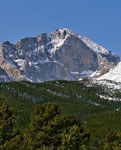 The Diamond On Longs Peak In Rocky Mountain National Park,  Colorado; photo by Brendan Reals