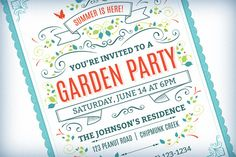 Summer Party Invitation Template by Swedish Points on Creative Market