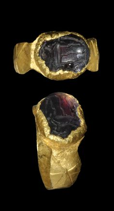 Roman Gold Ring with Capricorn Intaglio, 1st/2nd century A.D.