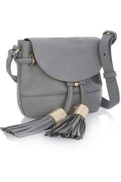 See by Chloé | Vicki mini textured-leather shoulder bag | NET-A-PORTER.COM