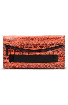 Vince Camuto 'Essy' Snake Embossed Clutch available at #Nordstrom